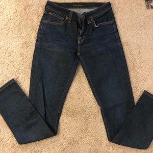 Nudie Jeans-Skinny Lin-Sz27, Nearly Dry wash-Used